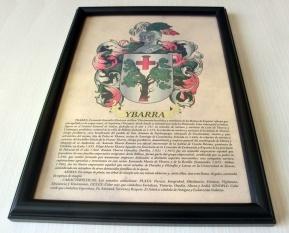 Marco pergamino A4 heraldica