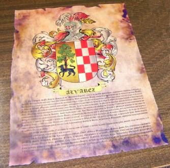 Heraldica en pergamino